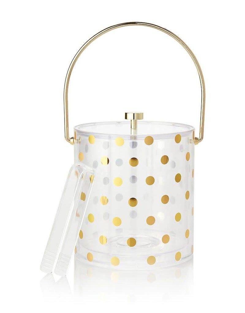 Kate Spade NY Raise A Glass Gold Dot Acrylic Ice Bucket