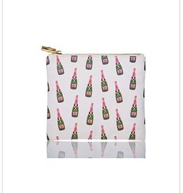 Toss Designs Champagne Bottle Canvas Flat Zip