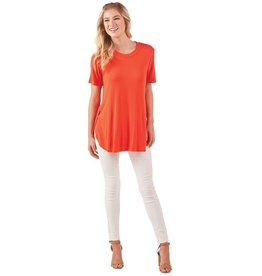 Mudpie Tucker Jersey Tee Tunic in Red