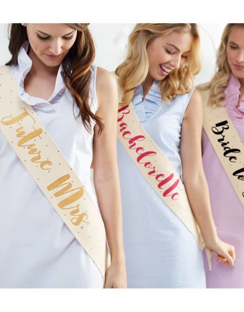 Mudpie Canvas Sash - Future Mrs.