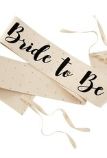 Mudpie Canvas Sash - Bride To Be