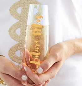 Mudpie Future Mrs. Stemless Champagne Glass