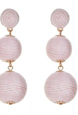 Fornash Wellington Triple Ball Earrings in Blush
