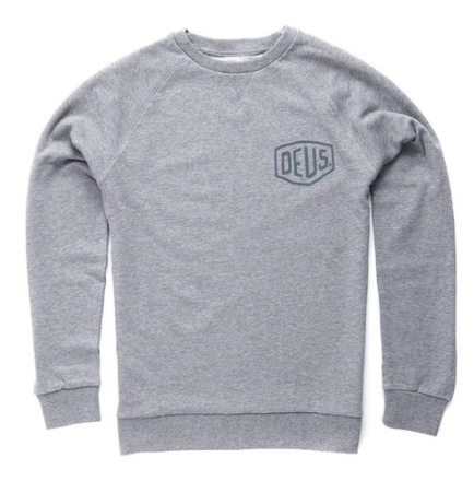 Deus Shield Crew Sweatshirt Grey