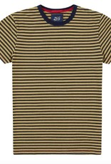 Deus Wei Indigo Stripe Tee Yellow
