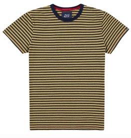 Deus Wei Indigo Stripe Tee Yellow
