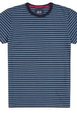 Deus Wei Indigo Stripe Tee Blue