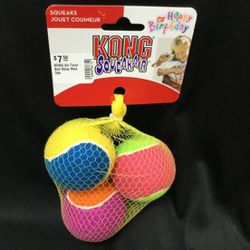 Kong KONG Air Tenn Ball Bday Med 3pk