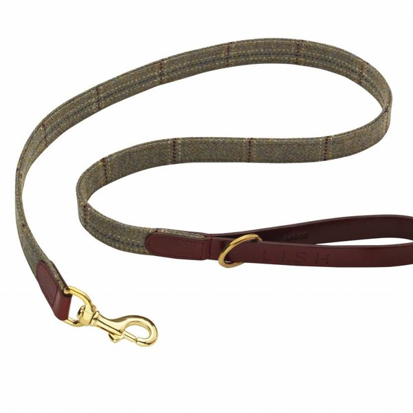 Lovemydog hanbury green check leash large