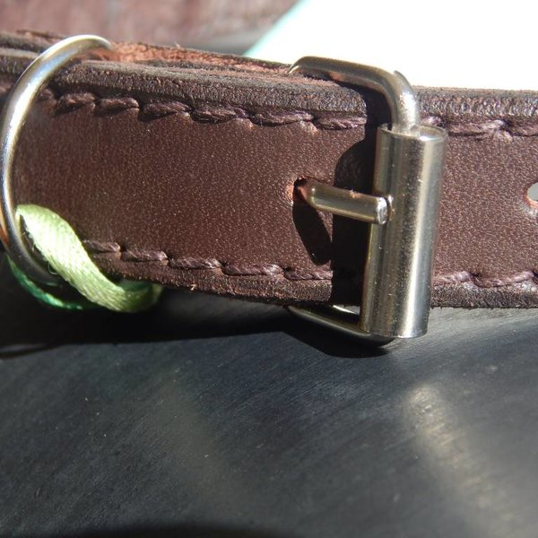 Beadle African beaded collar green zigzag