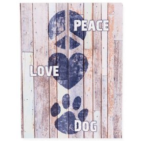 Pallet Box Peace Love Dog