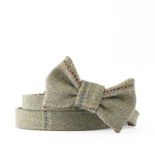 Digby Tweed Dog Collar & Bow Tie