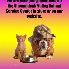 Shenandoah Valley Animal Service Center Donation