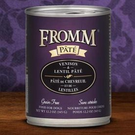 Fromm Fromm Pate Venison Lentils 12oz Can