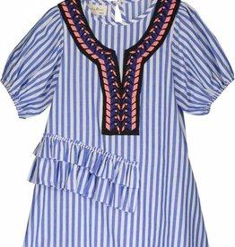 Vierra Rose freya dress- blue stripes