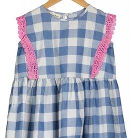 Vierra Rose lilou dress- blue check