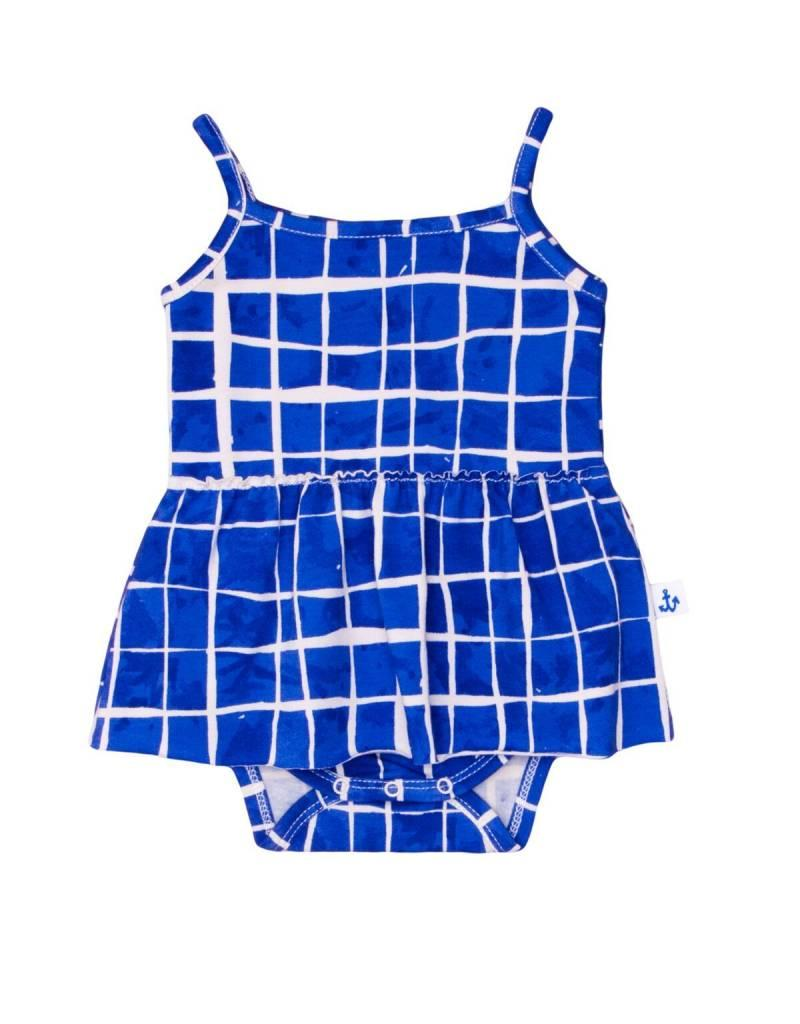 Noé & Zoë tank skirt onesie- swimming pool