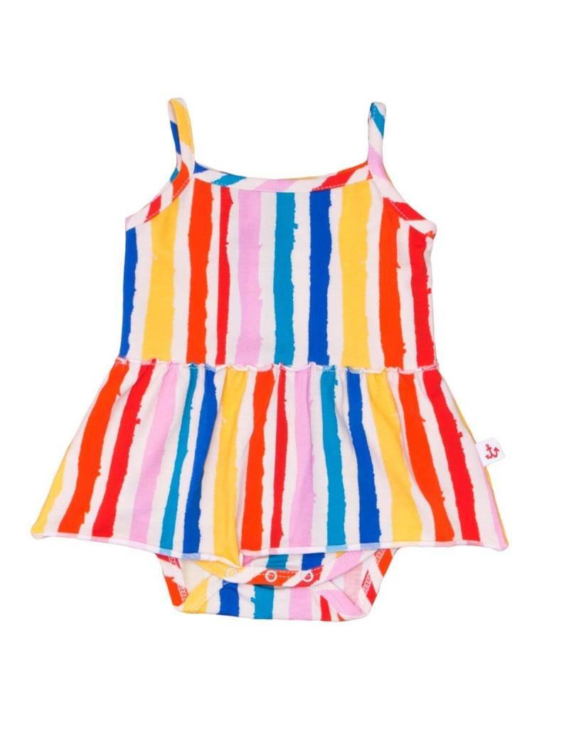 Noé & Zoë tank skirt onesie- rainbow