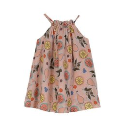 Velveteen elise dress- fruit basket