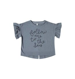 Rylee and Cru baby follow me flutter top- stormy blue