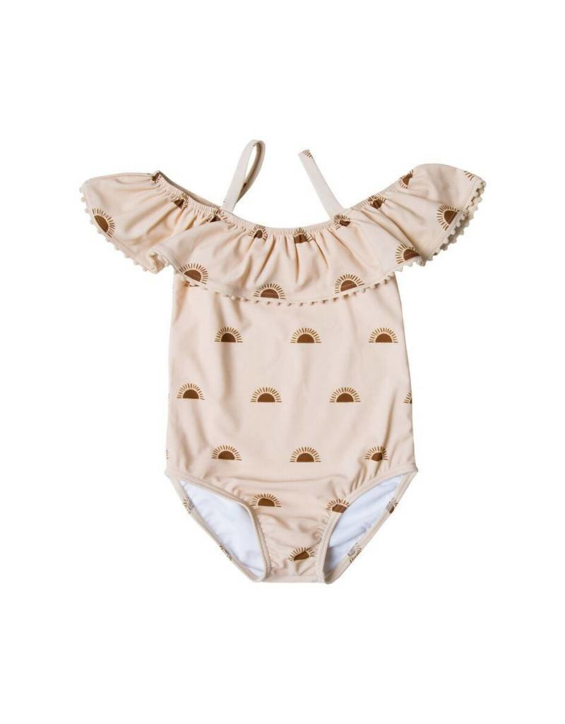 Rylee and Cru baby sunset swimsuit- pearl
