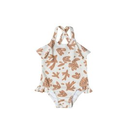 Rylee and Cru sealife swimsuit- ivory