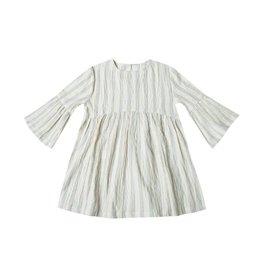 Rylee and Cru stripe bell sleeve dress- ivory/stormy blue