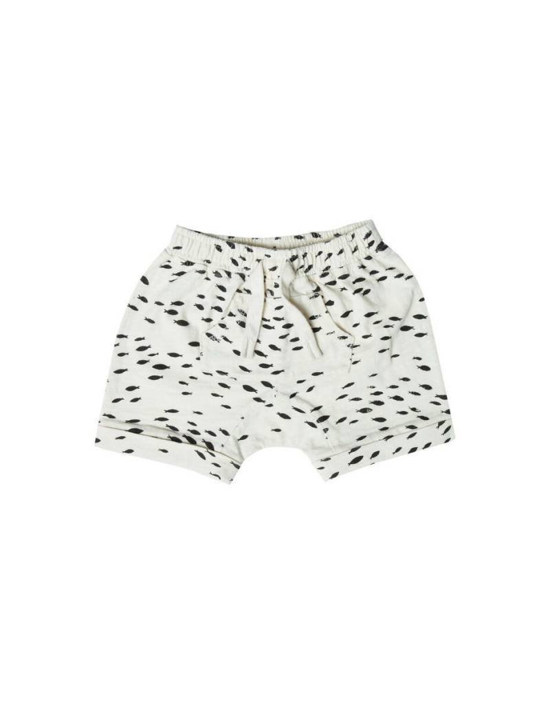 Rylee and Cru baby fish shorts- ivory
