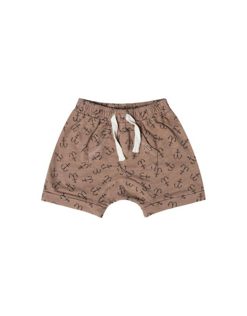 Rylee and Cru baby anchor shorts- cocoa