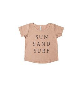Rylee and Cru baby sun sand surf tee- terra cotta