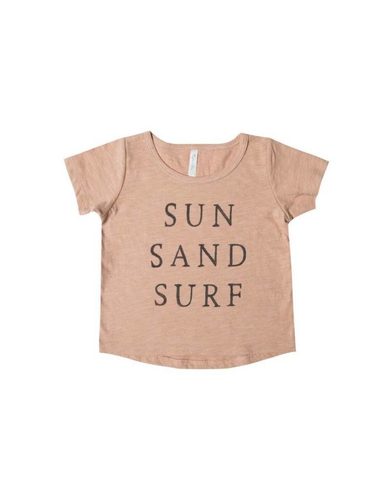 Rylee and Cru baby sun sand surf tee- terra cotta