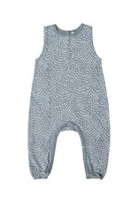 Rylee and Cru dash waves jumpsuit- stormy blue