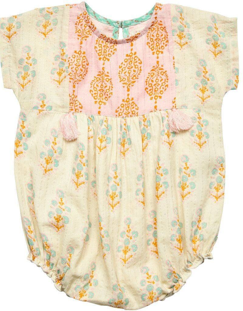 Pink Chicken bette bubble- white floral