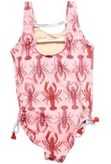 Pink Chicken baby marcie swimsuit- lobster