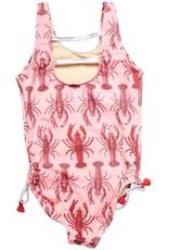 Pink Chicken marcie swimsuit- lobster