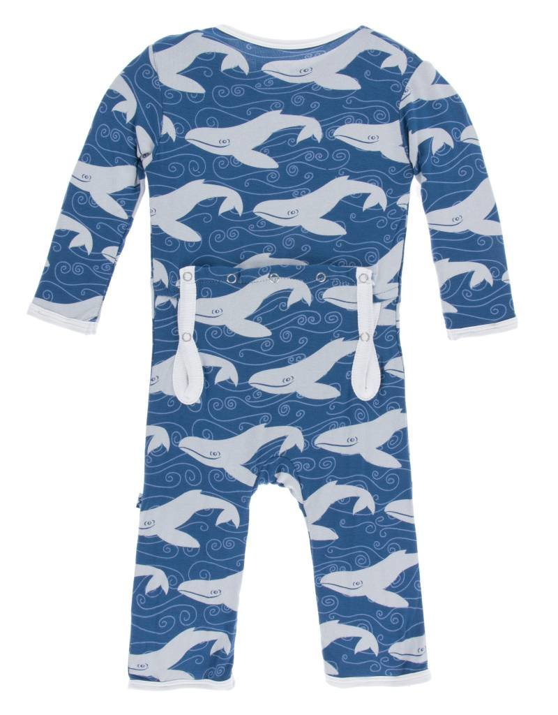 Kickee Pants coverall (snap)- twilight whale