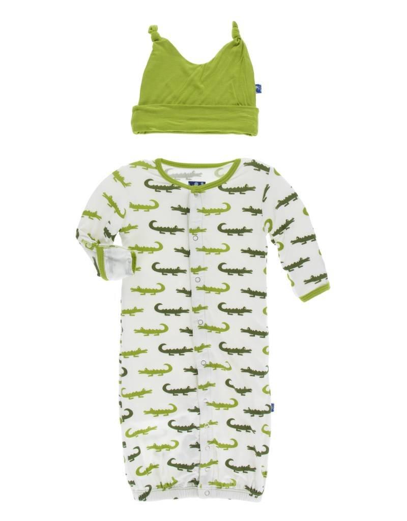 Kickee Pants converter & hat- natural crocodile
