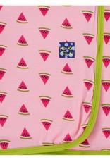 Kickee Pants swaddle blanket- lotus watermelon