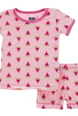 Kickee Pants ss pj set- lotus watermelon