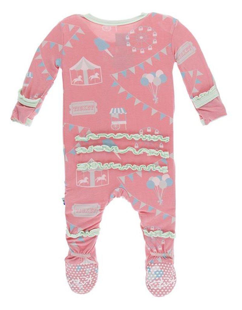 Kickee Pants ruffle footie (zip)- strawberry carnival