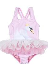 Rock Your Baby swan tutu swimsuit