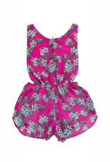 Coco and Ginger poet sunsuit- pink almond blossom