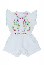 Coco and Ginger baby magnolia playsuit- white