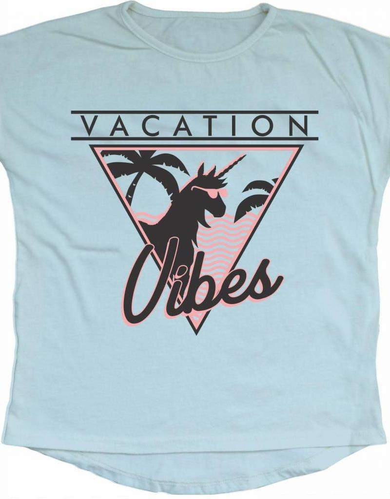 Tiny Whales vacation vibes dolman- light blue