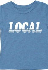 Tiny Whales baby local tee- blue