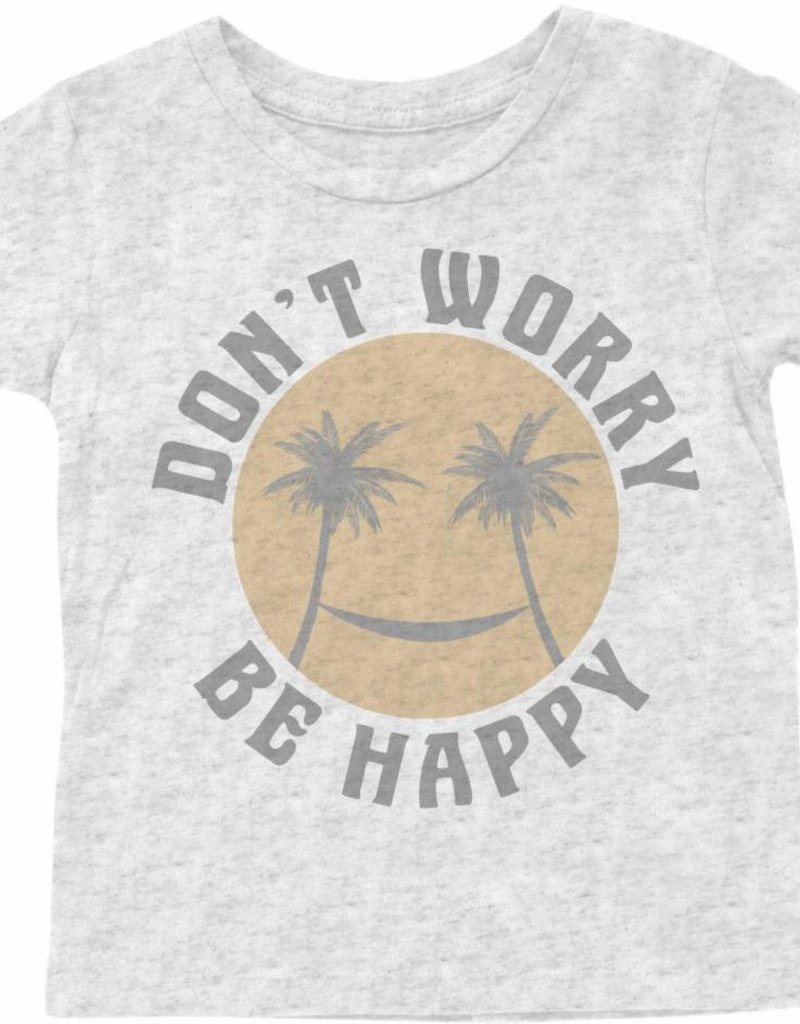 Tiny Whales baby don't worry tee- ash