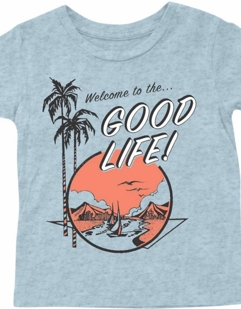 Tiny Whales baby good life tee- light blue