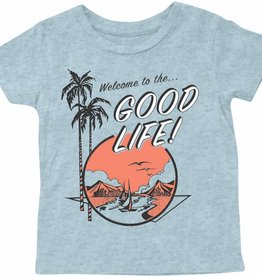 Tiny Whales good life tee- light blue