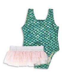 Shade Critters baby metallic mermaid swimsuit set
