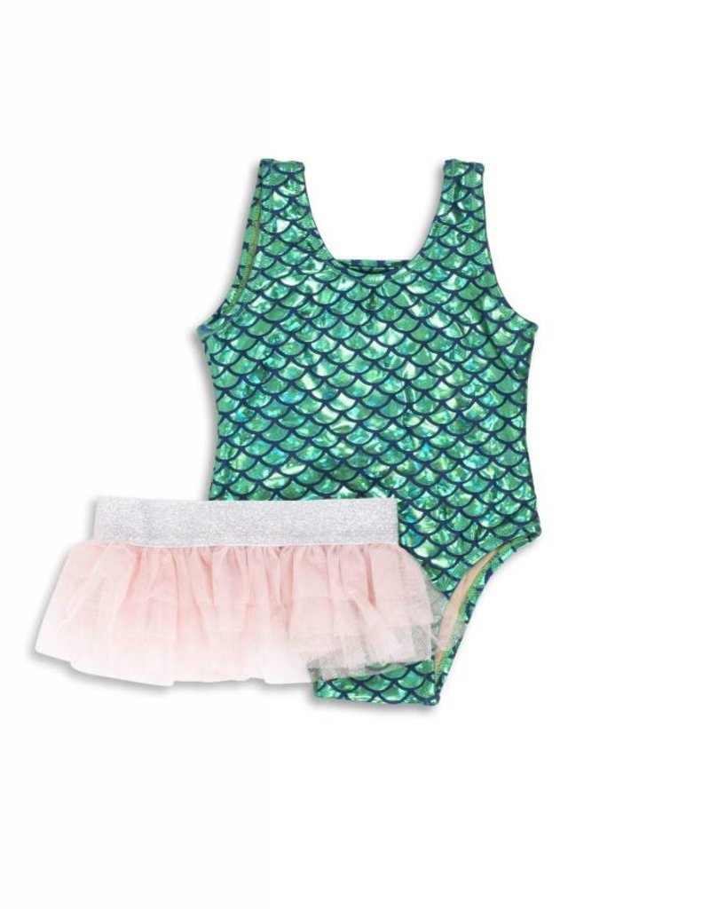 Shade Critters metallic mermaid swimsuit set